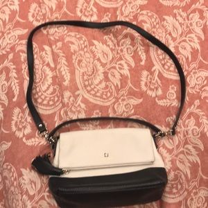 Kate Spade cream/black crossbody purse